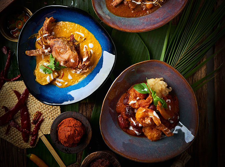 Curries prepared by Spice Market Bangkok
